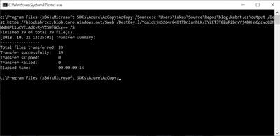Hosting a static website on Azure